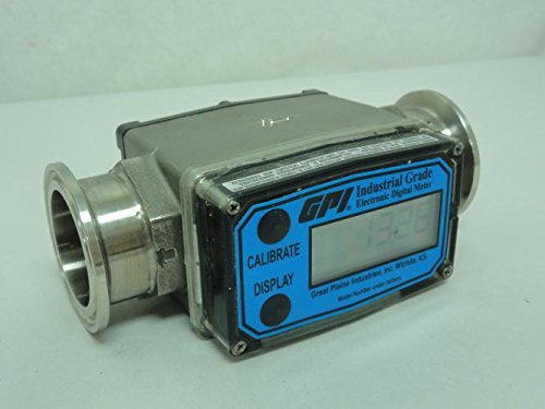 GPI G2S10T09GMA G2 Series Stainless Steel Flowmeter, Tri-Clover Fittings, the 09 Computer, Reads Gallons/Minute, 1'' by GPI® The Proven Choice®