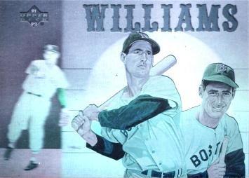 1992 Upper Deck Hologram Hh2 Ted Williams Baseball Card