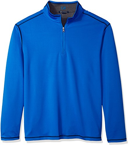 Cutter & Buck Men's 50+ UPF Stretch Evergreen Reversible Snap Placket Pullover, Digital b, X-Large Cutter & Buck Golf Pullover