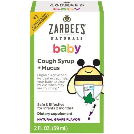 Zarbees Baby Cough Syrup & Mucus Reducer (Pack of 6)