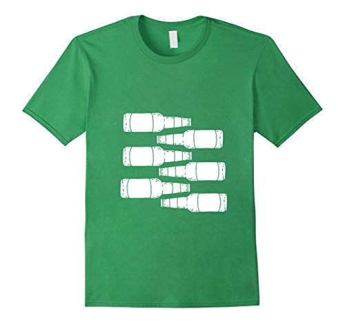 Costumes For Men Simple (Mens Simple halloween costume t-shirts Six Pack of Beer Abs Shirt Medium Grass)