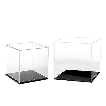 Amazon.es: Baoblaze 2 PCS Caja de Exhibición de Acrílico ...