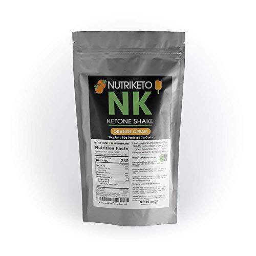 NutriKeto Ketone Shake - Orange Cream - Low Carb/High Fat  -