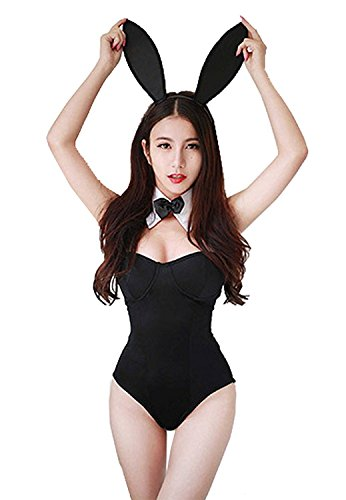 Creamlin Women's Bunny Girl Costume Cosplay Dress, One Size]()