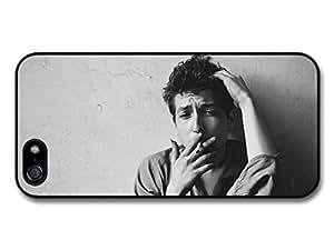 AMAF ? Accessories Bob Dylan Smoking Black & White Portrait Singer case for iPhone 5 5S