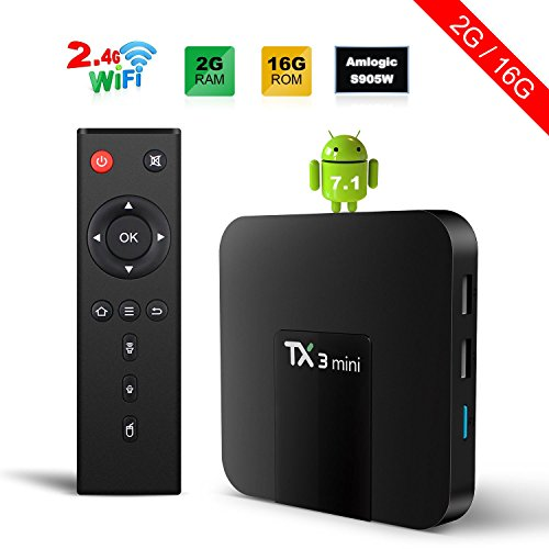 TX3 Mini Android 7.1 TV BOX 2GB/16GB 4K TV Amlogic S905W Quad core H.265 Decoding 2.4GHz WiFi TV BOX