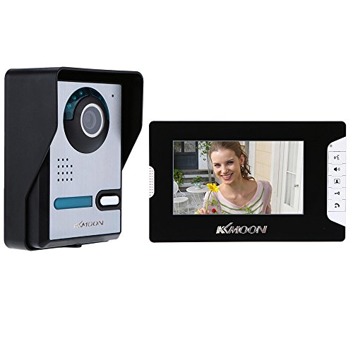 KKmoon Door Phone System Record/Snapshot Visual Intercom Doorbell with Indoor Monitor Outdoor Camera...