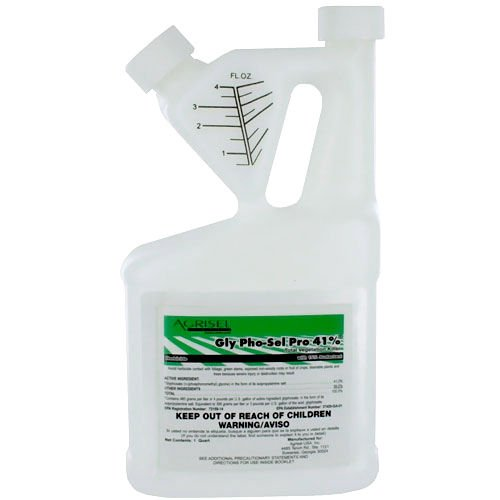 Weed Grass Killer Herbicide Conc 41% Glyphosate 15% Surfactant 1 Qt Mks 16 Gals