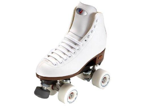 Riedell Angel White Womens Quad Artistic Roller Skates - Art