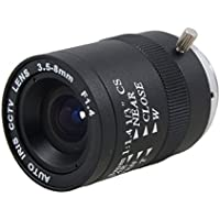 uxcell CCTV Camera Replacement F1.4 Monofocal Manual Iris Lens