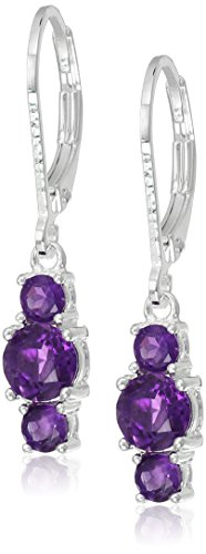Sterling Gemstone Birthstone Leverback Earrings
