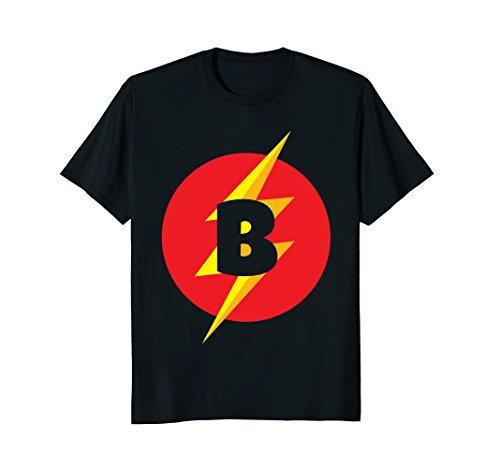 Superhero Costume Letter B Initial T-Shirt For Boys & Girls]()