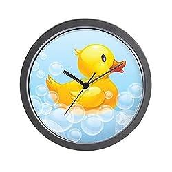 CafePress - Duck In Bubbles - Unique Decorative 10 Wall Clock