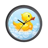 CafePress – Duck in Bubbles – Unique Decorative 10″ Wall Clock Review
