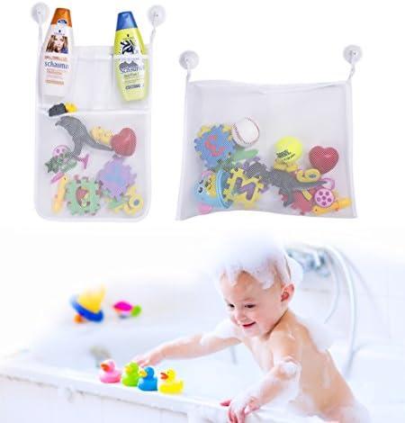 Kids Sucker Shower Badespielzeug Ablagekorb Shower Toys Organizer Pink