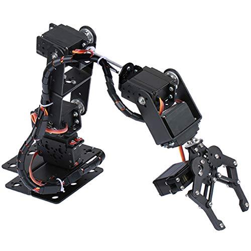 perfk 自動ロボットアーム メカニカルアーム DIY 6-Dof ロボット 機械アーム 科学玩具