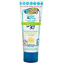 TruBaby Water and Play SPF 30 Plus Water-Resistant UVA/UVB Sunscreen Lotion, Unscented, Mineral Based, Safe for Face and Body, 2 oz