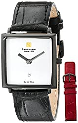 Steinhausen Women's LW516-LW Square Black Watch with Two Interchangeable Bands
