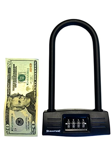 U lock Bike lock - Resettable Combination U lock / D lock for Bicycles / Gate Lock - Secure your bike while eliminating the need to carry the key. 14mm Shackle for Heavy Duty Protection by Steadfast Brand (Image #5)