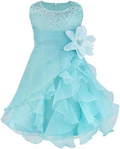Baby M/ädchen Kleid Blumenm/ädchen Festliches Kleid Taufkleid Hochzeit Organza Party Kleid 62 68 74 80 86 92 98 iEFiEL Babybekleidung