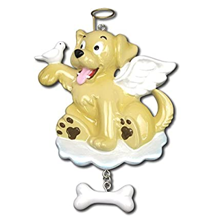amazon com dog angel personalized christmas ornaments home kitchen