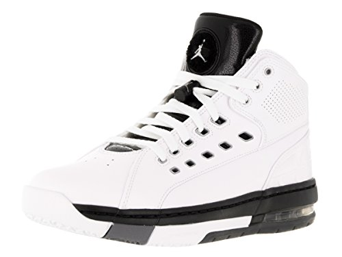Nike Jordan Mens Jordan OlSchool White/Mtllc Slvr/Black/Cl Gry Basketball Shoe 11 Men US