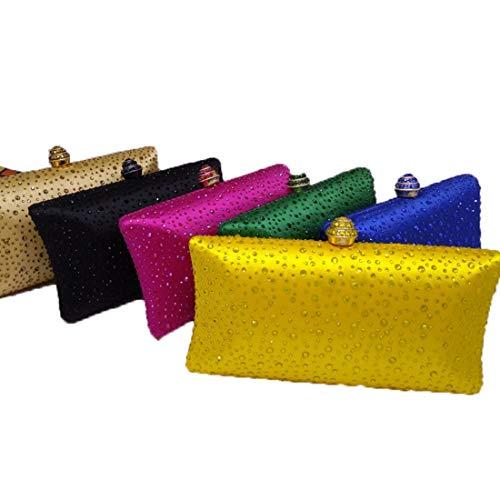 Especial Las color Embrague Mujeres Bolsos Yellow Colorful De Felicipp Noche Cristal Bolso Ocasión wxwXzOq