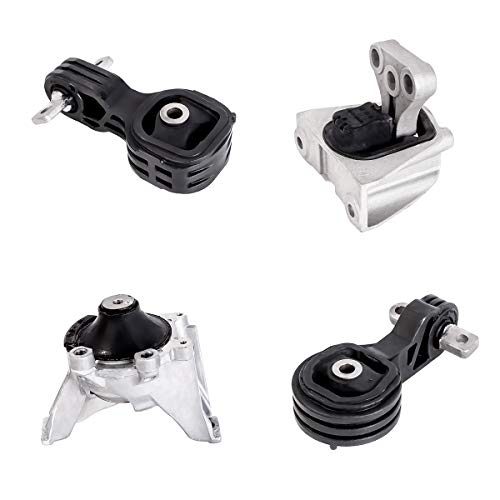 Ashimori Fit Honda CRV 2.4L Auto 2007-2011 Engine Motor Mount & Transmission Mount Kit ()