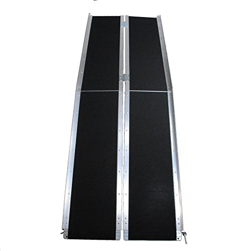 (Big Horn Aluminum Multi-Fold Wheelchair Ramps | Porable & Compact | Temporary or Permanent Use | Perfect For Homes, Stairs, Trailers, Vans | 600 LBS Load Rating | 3 Year Warranty (6 Foot Length))