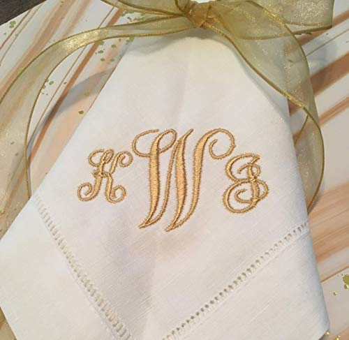Embroidered Linen/Cotton Napkins