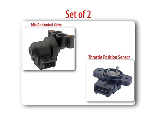 (SET OF 2) 35150-33001 IDLE AIR VALVE CONTROL, 35170-37100 THROTTLE POSITION SENSOR FITS: KIA OPTIMA 2001-2006 SPORTAGE 2005-2010