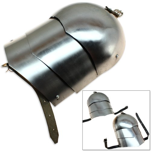 Medieval Pauldron Set Pair Plate Armor Carbon Steel Real Adult Size