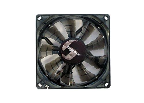 Bgears 90 mm 2 Ball Bearing High Speed High Performance Fan, Translucent Black (b-PWM 90 Black 2ball) ()