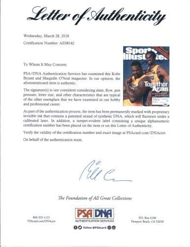 Kobe Bryant/Shaquille O'Neal Lakers Signed SI Sports Illustrated LOA PSA/DNA Certified Autographed NBA Magazines