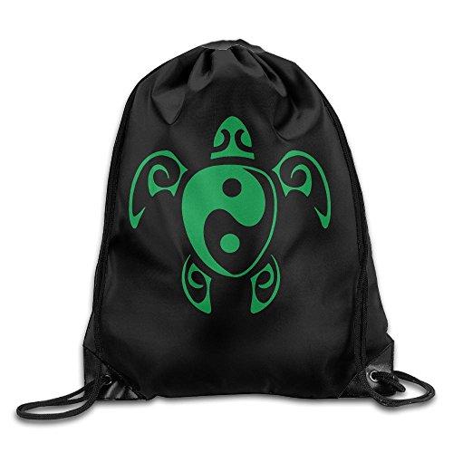 Sea Turtle Yin Yang Drawstring Backpack Bag Beam Mouth School Travel Backpack Shoulder Bags For Men / Women from 05_&_NG