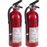 Kidde 21005779 Pro 210 Fire Extinguisher, ABC, 160CI, 4 lbs, 2 Pack
