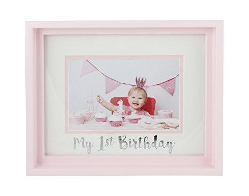 For Newborn Girls Or Boys Unique Baby Shower Gift Registry Memorable Keepsake Frame Room Wall Nursery Decor My First Birthday 6x4 Pink