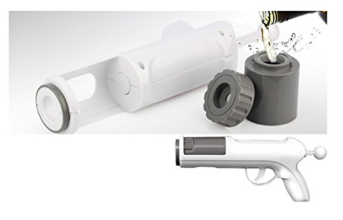 Barbuzzo Alcohol Shot Gun, White/Gray
