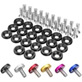 What Are the Measurements of a California King Maintenance & Repair Tools - 20pcs Cnc Aluminum Bumper Fender Washer Bolt Engine Bay Dress Up Kit M6x15mm - Bumper Fender Clips Retainers Quick Release Holder Car Washer Bolt