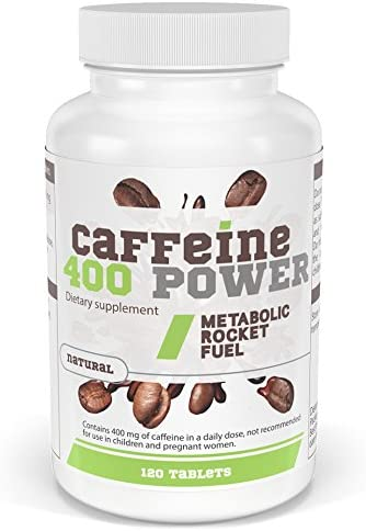 CAFFEINE POWER 400 - Koffein 400 mg pro Tagesdosis - 120 Tabletten