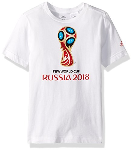 World Cup Soccer Apparel - World Cup Soccer World Cup Emblem Youth Boys World Cup Emblem Tee, Medium, White