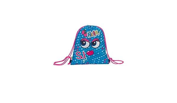 Pink School Gymsack SJ Drawsting Backpack SEVEN FACE Double Girl