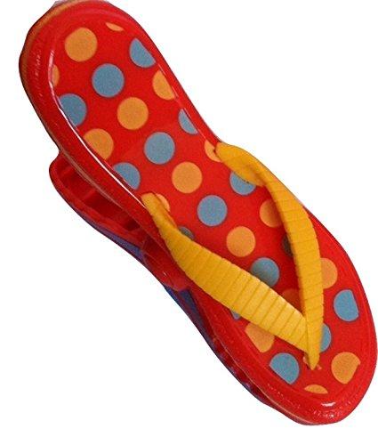 Toalla Clips Lunares chanclas boca para playa piscina tumbona sillas mantener toalla de soplar a distancia: Amazon.es: Hogar