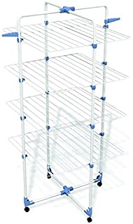 Gimi Modular 4 Tendedero de Torre Modulable, Metal, 71 x 5 x 168.5 cm