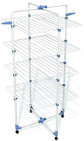 Gimi Modular 4 Tendedero de Torre Modulable, Metal, 71 x 5 x 168.5 cm, Blanco