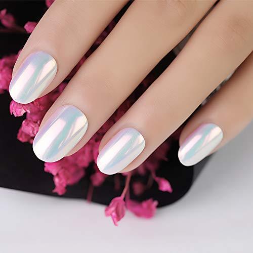 Polvo de espejo para uñas, magia espejo Efecto de neón en polvo Perla brillante Brillo de uñas Nail Art Decoraciones: Amazon.es: Belleza