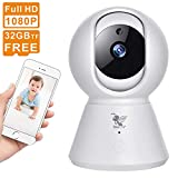 HERCINY 1080P Security Camera, Baby Monitor, IP Camera WiFi Camera with Night Vision/Motion Tracker/Activity Alert/Two-Way Voice Home Camera for Baby/Old Man/Nanny/Pet Surveillance Camera