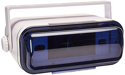 Durable Universal Marine Stereo Cover - Water Resistant Boat Radio Protector Shield with Flip-up Door & Neoprene Gasket - Compatible with Dual Shaft & DIN Style Stereos - Pyle PLMRCW3