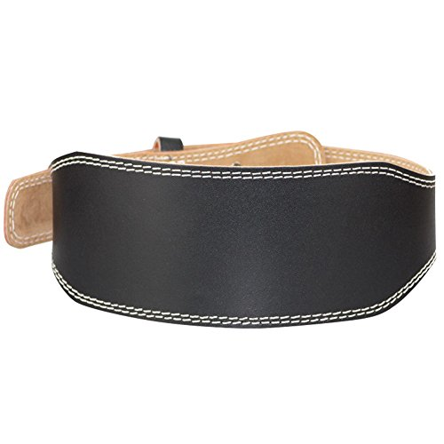 Nachvorn Cowhide Weightlifting Belts For Men and Women, Adjustable with Buckle, Back Support for Lifting, Black M