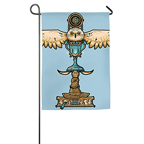 Pingshoes Custom Indians Totem Season Porch Yard House Garden Flags 12x18 inches All-Weather Polyester (Custom House Divided Flags)